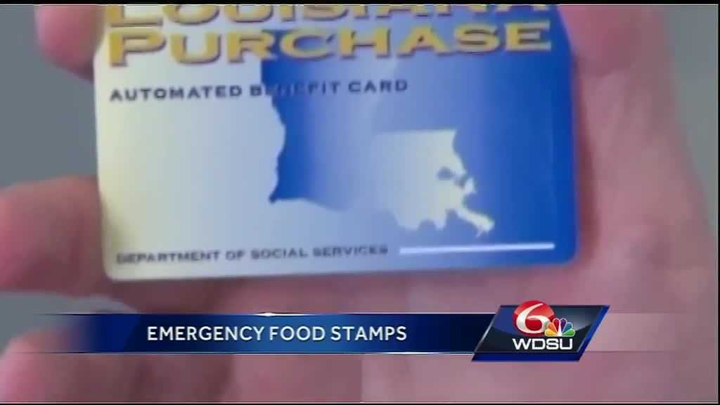 State officials open sites for flood victims to apply for emergency food stamps.