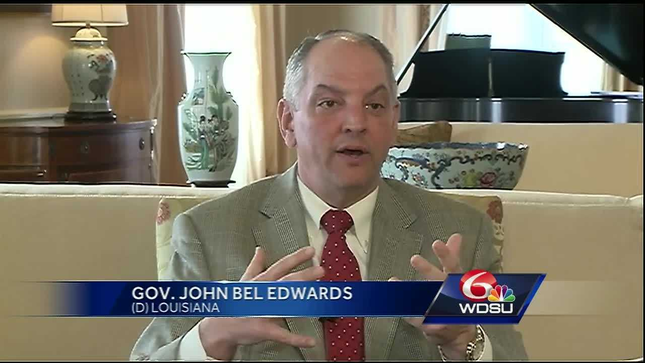 WDSU sat down with Gov. John Bel Edwards who spoke about the budget issues plaguing the state.