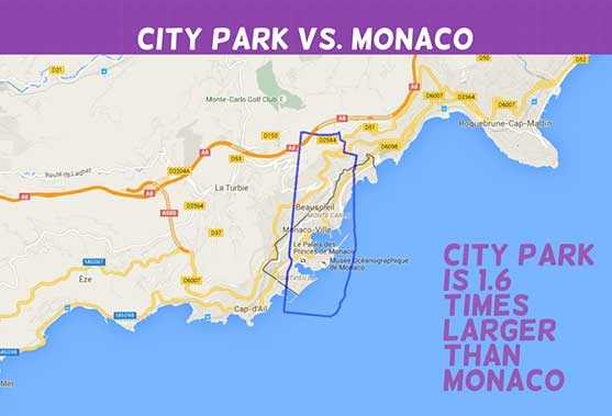 Infographic See how big City Park is compared to other cities