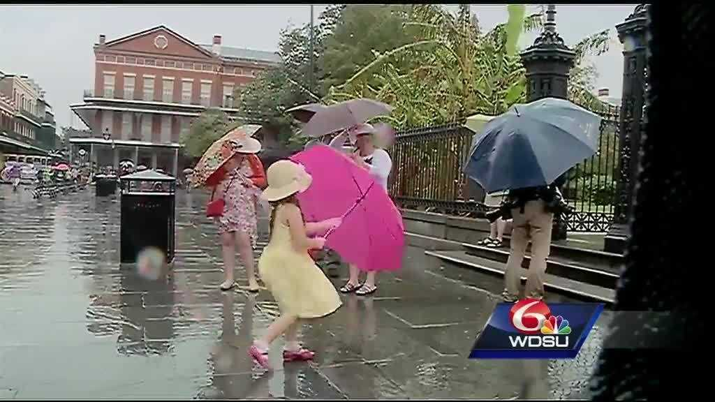 It was a rainy Easter Sunday for locals and visitors.