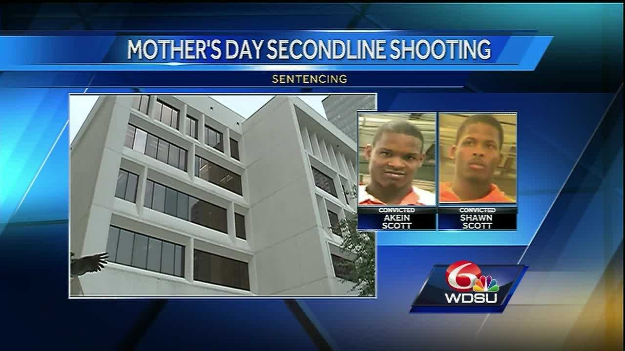 Two brothers who plead guilty to opening fire during a second line in New Orleans on Mother's Day in 2013 were sentenced Tuesday in federal court.