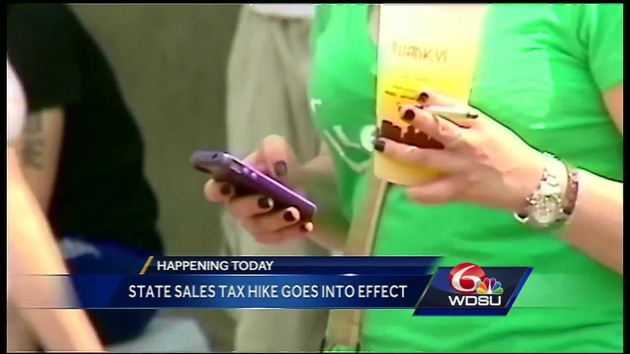 A 1 percent tax hike takes effect Friday, with Louisiana residents paying more for cigarettes, alcohol and car rentals.