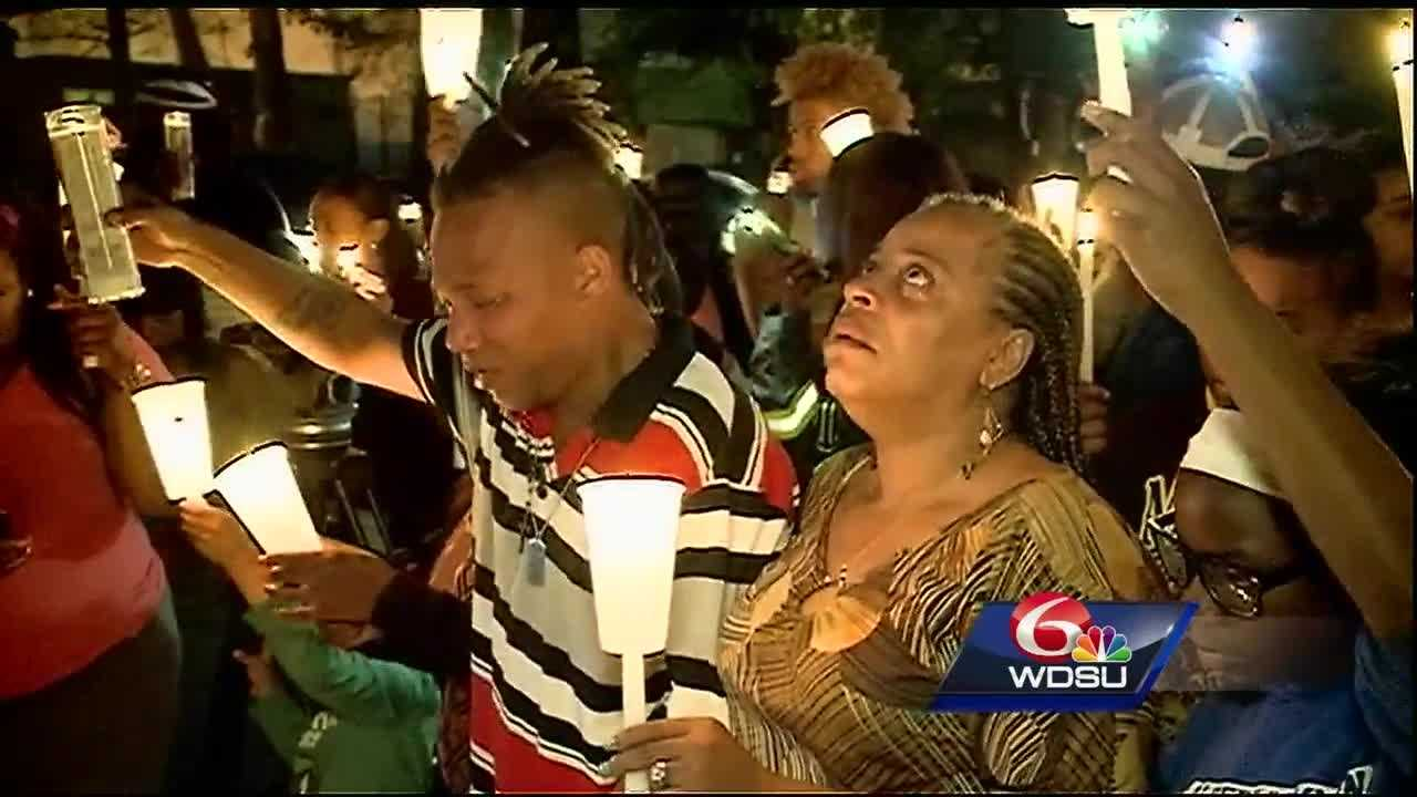 Two families mourned the loss of two people killed in a home in Kenner.