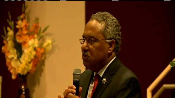 Orleans Parish Sheriff Marlin Gusman held his State of the Sheriff's Office address Tuesday night at a church in Gentilly.