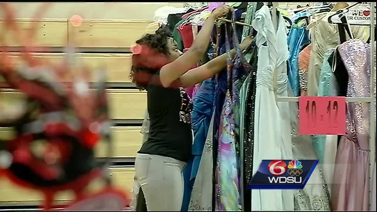 On Saturday, the Mystic Krewe of Femme Fatale gave away more than 200 prom dresses to high school seniors who are getting ready for prom.