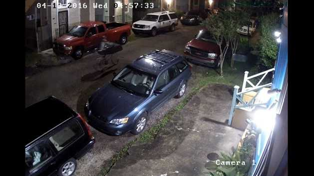 New Orleans police released several pieces of surveillance video that shows a man on a bike stealing an AR-15 from a car April 13.