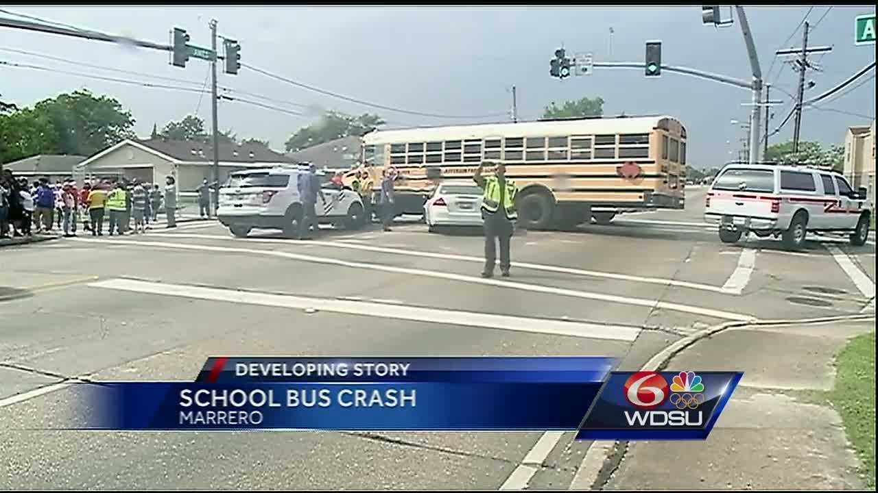 Several students were injured in a crash Thursday afternoon in Marrero.
