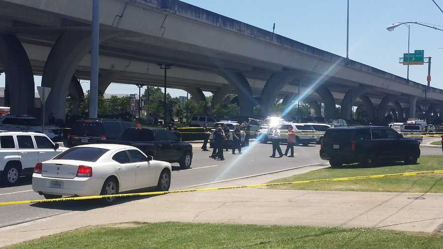 The shooting was reported about 12:40 p.m. near Lebeouf Street and the Westbank Expressway.