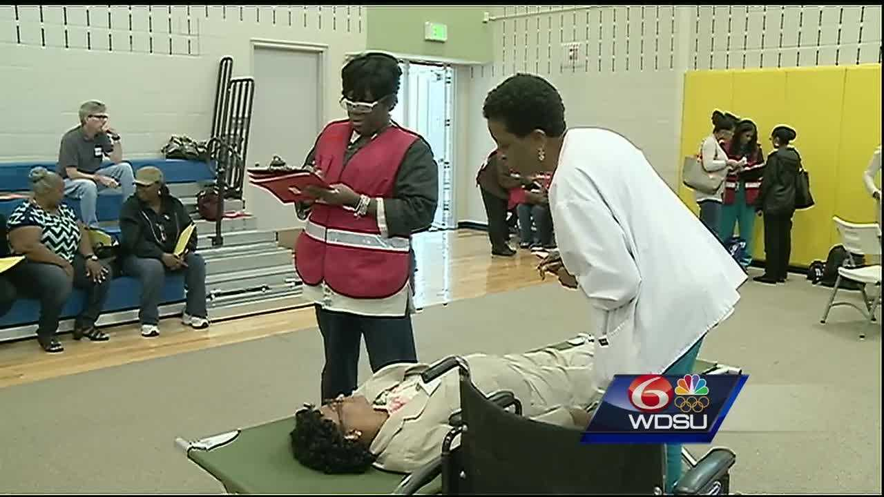The New Orleans Health Department, the New Orleans Office of Homeland Security and Emergency Preparedness held an exercise Friday to train staff and volunteers to run a medical special-needs shelter in the event of a hurricane or emergency.