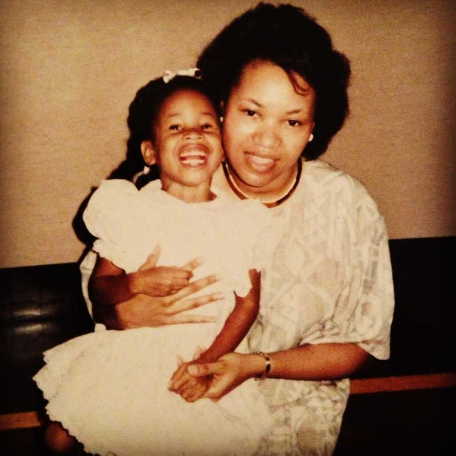 Adrianna Hopkins and her mother. Look at that smile!