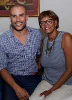 """Charles Divins and his mother. Her favorite saying, """"Make good choices."""""""