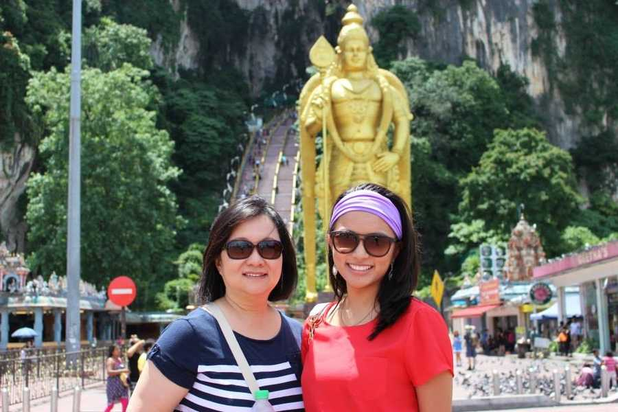 Natalie Hee and her mother Shirley in Malaysia. Beautiful smiles with a cool background!