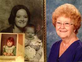 Farrah's mother, who passed away when she was young, is pictured on the left. Her grandmother, who raised her, is pictured on the right.