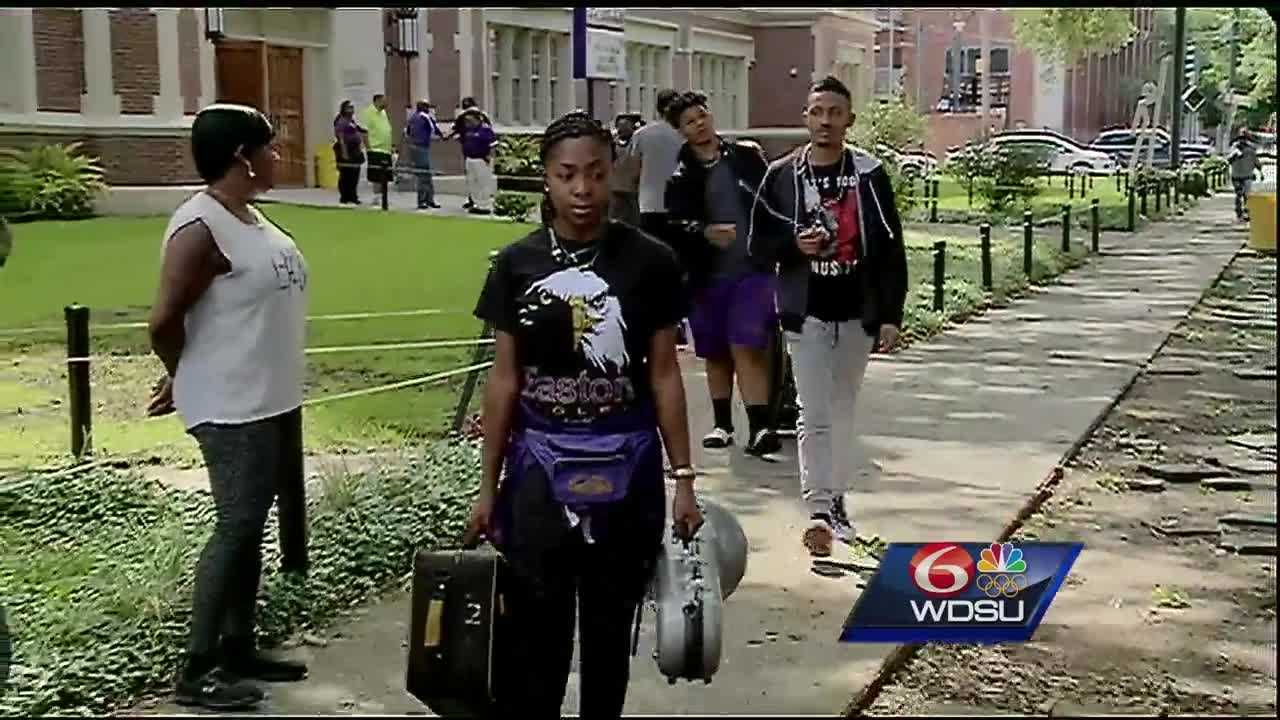 Some members of the Warren Easton High School jazz band members on about to take the trip of a lifetime -- they're going to Cuba.