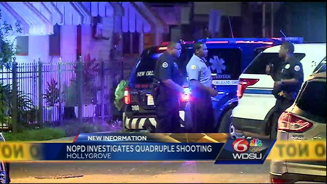 The quadruple shooting was reported just before 10 p.m. at the E&C Lounge at the corner of Apple and Monroe streets, the New Orleans Police Department said.