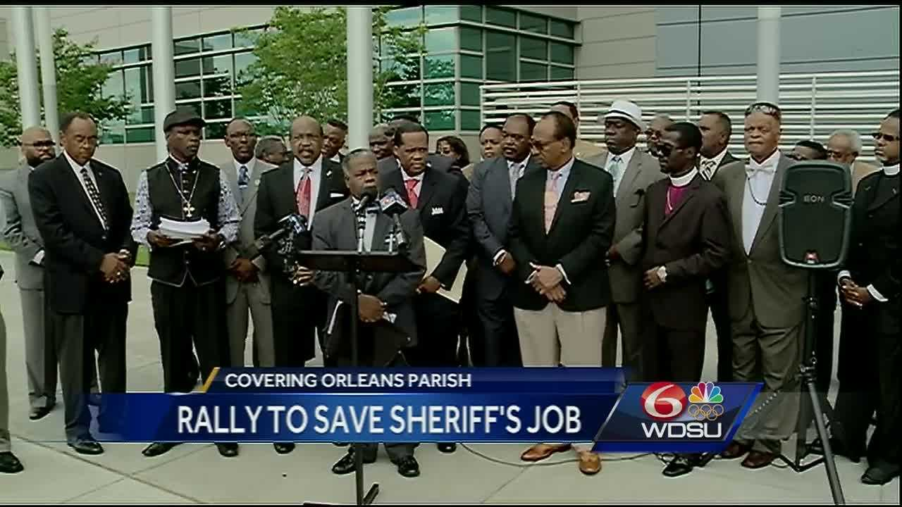 Faith-based leaders say the Orleans Parish sheriff should stay in control of the city's jail. More than 20 of the leaders held a rally Tuesday outside the Mid-City jail in support of Sheriff Marlin Gusman.