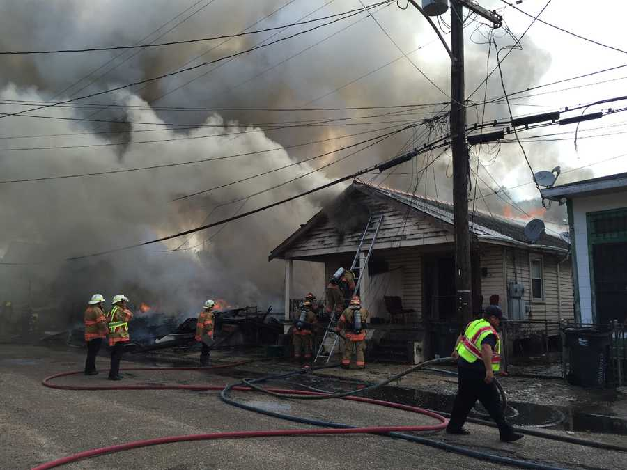 NOFD battling 2-alarm fire in St. Roch. We have a crew on the way. Live video: