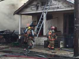 The fire was reported Wednesday morning in the 1600 block of Marigny Street.