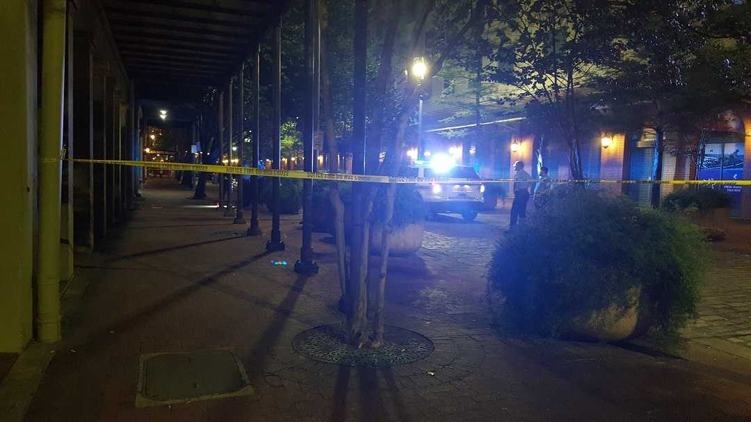 A man is shot after an argument early Friday morning on Fulton St.