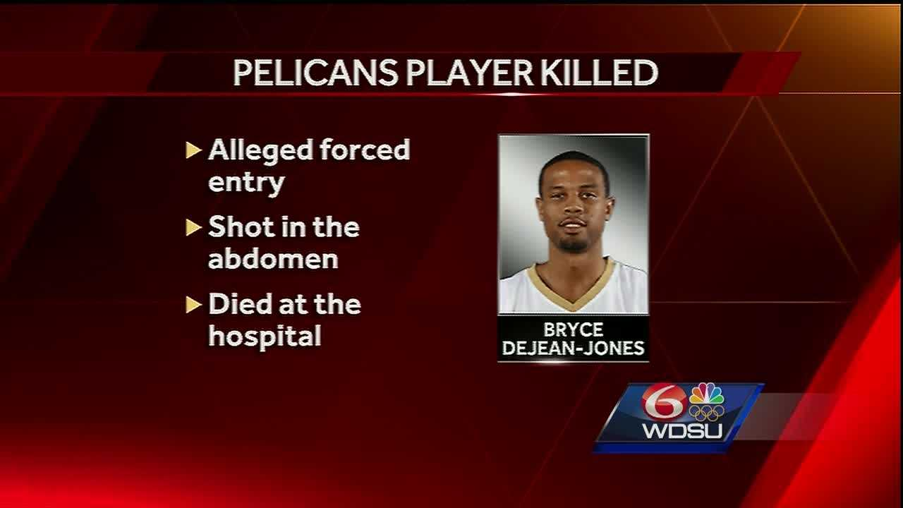 New Orleans Pelicans guard Bryce Dejean-Jones was shot and killed early Saturday when he forced his way into a Dallas apartment, police said in a report.