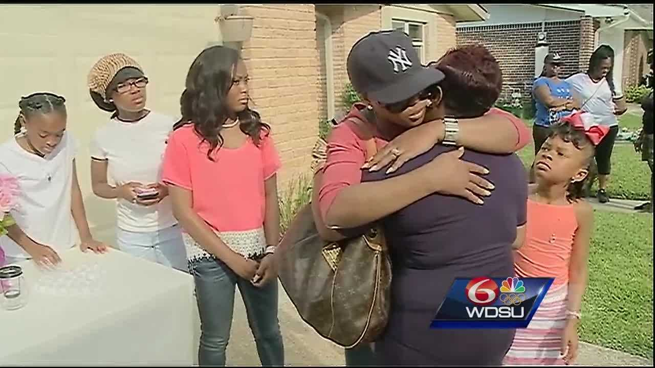 Family and friends came together for a vigil Saturday to remember the life of a 5-year-old girl who drowned in a pool behind an abandoned Metairie home.