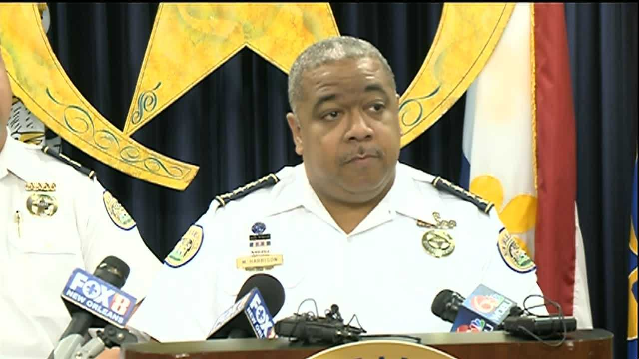 After a string of armed robberies and carjackings were reported over the weekend in New Orleans, Police Superintendent Michael Harrison held a news conference to discuss the investigations.