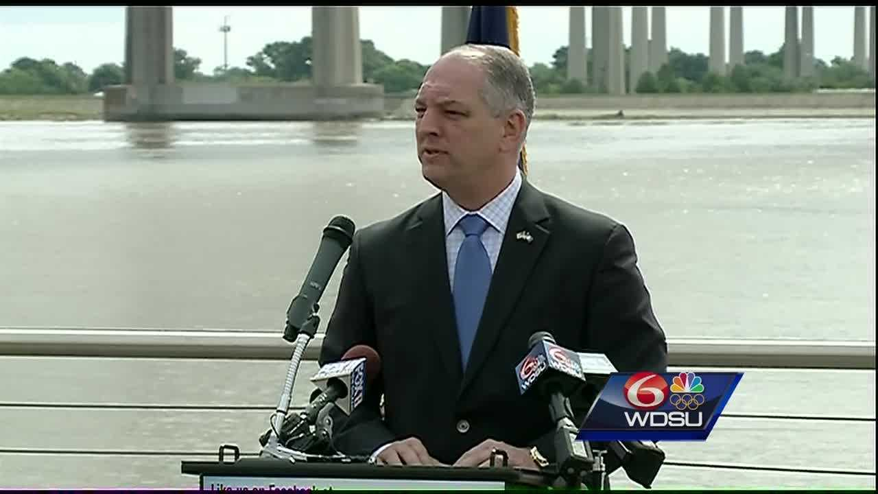 Gov. John Bel Edwards was joined by local, state and federal officials Wednesday to discuss hurricane preparedness on the first day of hurricane season.