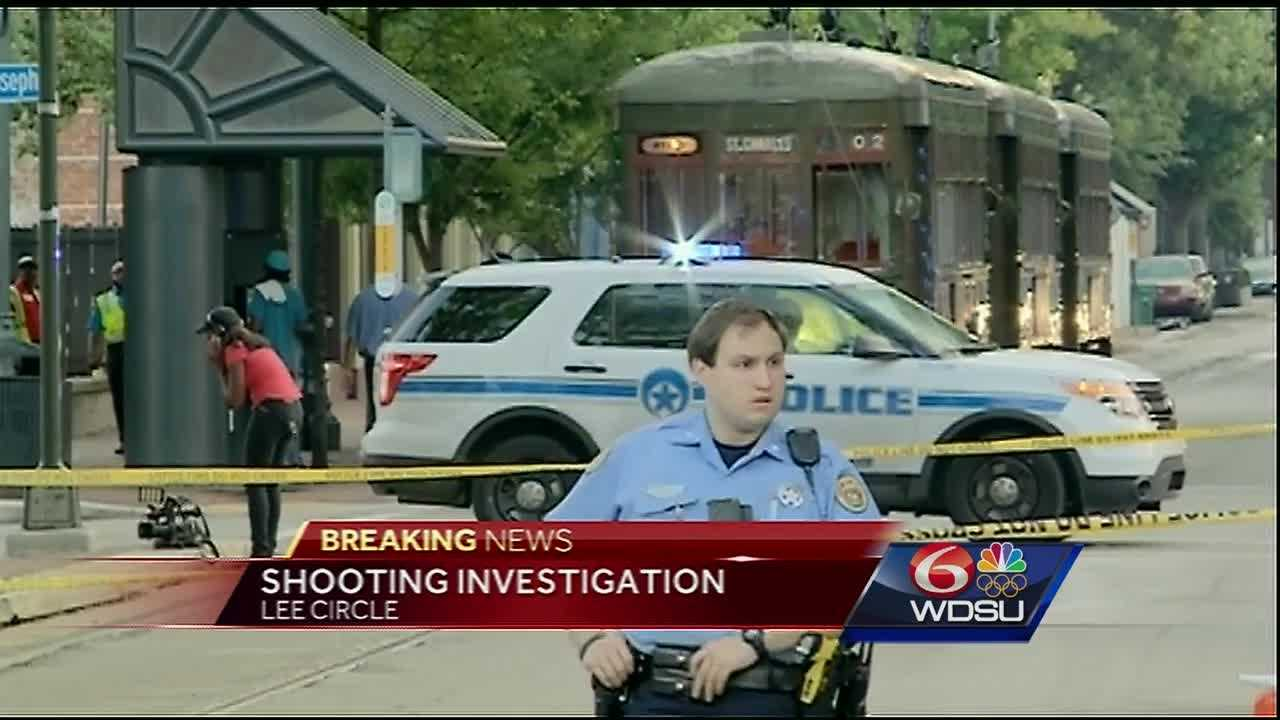 New Orleans police are investigating a shooting Friday morning near Lee Circle.