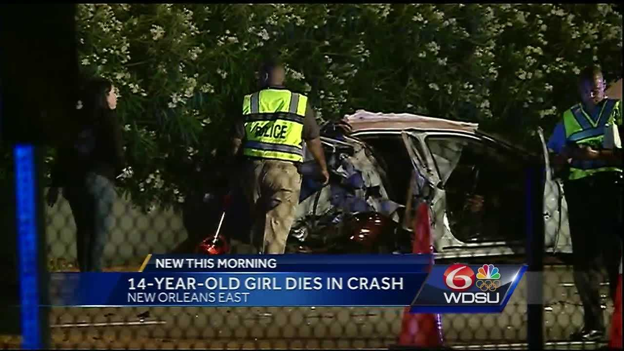 New Orleans Police are searching for the man who left the scene of a deadly accident that claimed the life of a 14-year-old girl Thursday night in New Orleans East.