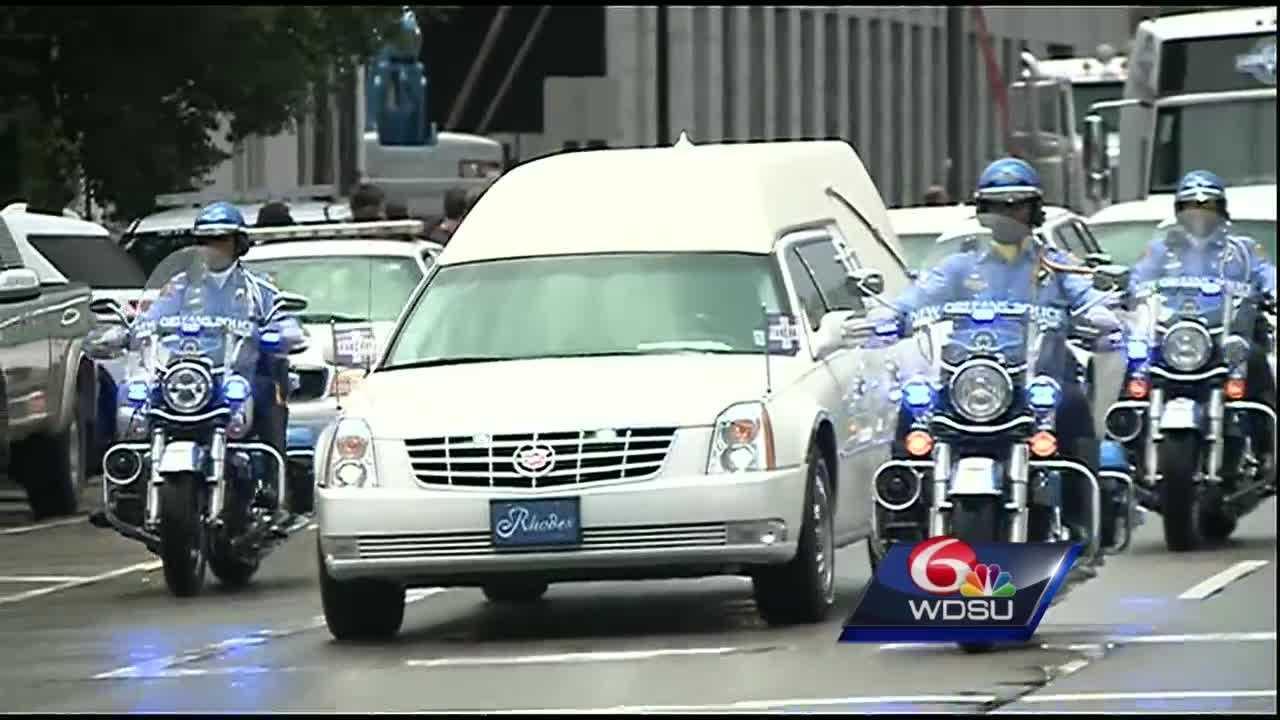 Funeral procession of Natasha Hunter