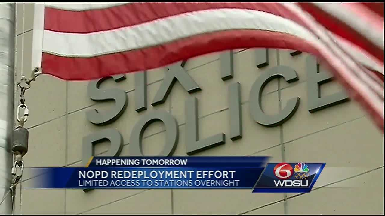 It's all part of an effort by the Police Department to increase manpower on the streets of New Orleans. Officials said that with the exception of the Eighth District, all police stations will be open to the public from 8 a.m. to 10 p.m. Monday through Sunday.