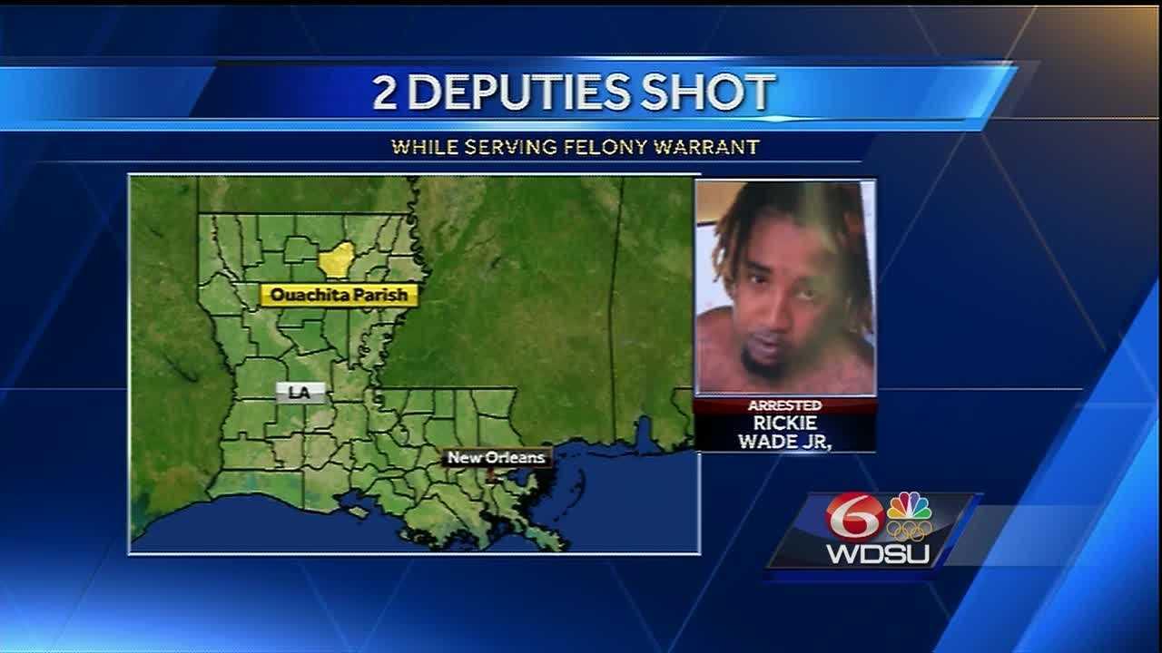 Two deputies were injured in a shooting in Ouachita Parish.