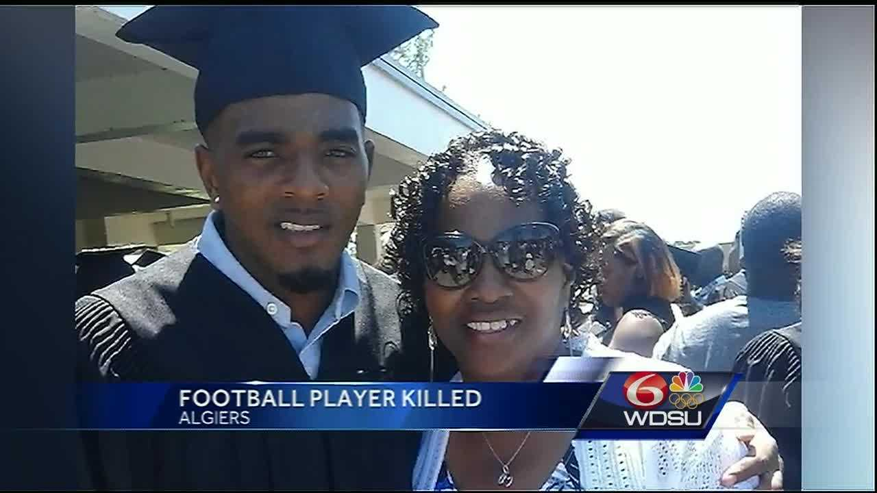 """Family members identified a man who was shot and killed Friday night in Algiers as former Edna Karr High School football player Tollette """"Tonka"""" George."""