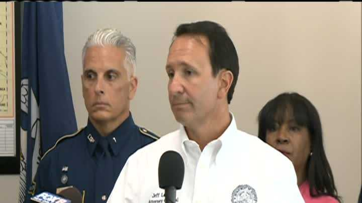 Louisiana Attorney General Jeff Landry held a news conference to unveil a new crime reduction effort in the New Orleans area.