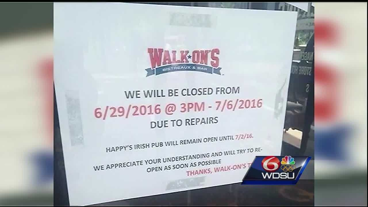 A restaurant right in the middle of all the Essence activity has received backlash on social media and is being accused of not being a team player. Walk-On's Bistreaux & Bar posted signs on the doors Wednesday announcing they'd be closed for repairs and attribute it to a plumbing issue.