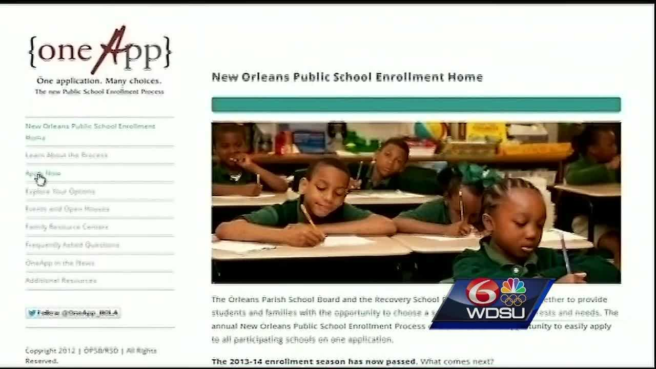 Late enrollment to register your child for an Orleans Parish Public School opened Wednesday morning, and some parents say they think the One App system has flaws that need to be fixed.