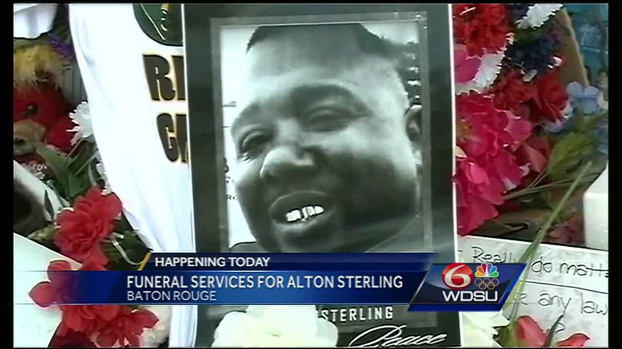 Family and friends will say their final goodbyes to Alton Sterling at a funeral service on Southern University's campus Friday.