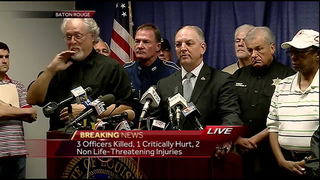 Video: Governor, State Police hold news conference on Baton Rouge shootings