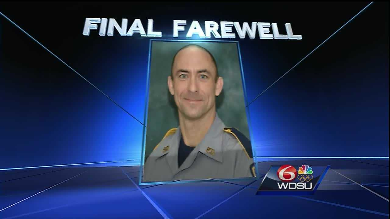 The first of three Baton Rouge officers killed Sunday will be laid to rest Friday.
