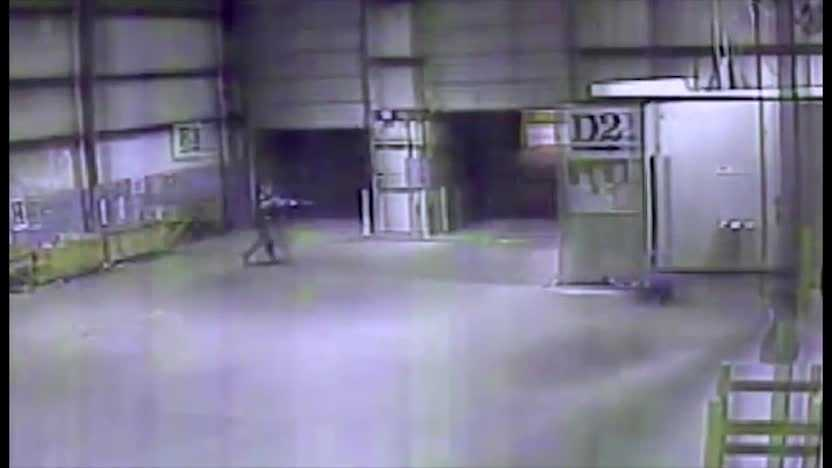 Surveillance video from inside the Times-Picayune warehouse in Metairie shows the moment a Jefferson Parish fatally shot a man who officials said pointed a gun at him.