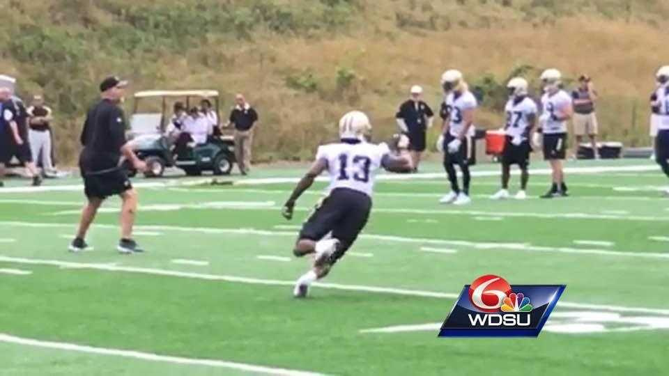 Rookie wide receiver from Ohio State dazzled coaches and players, catching everything thrown at him on day 2 of Saints training camp.