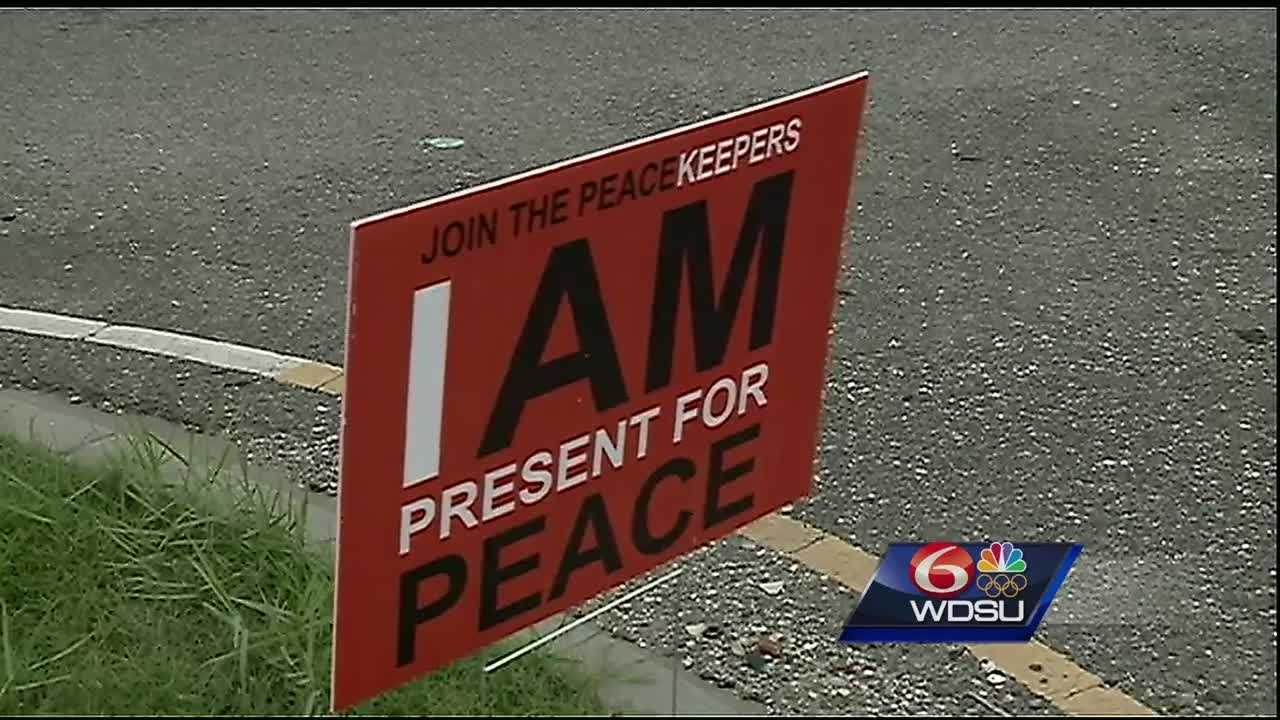 Local group the New Orleans Peacekeepers spent Saturday afternoon raising awareness for their Conflict Resolution campaign.