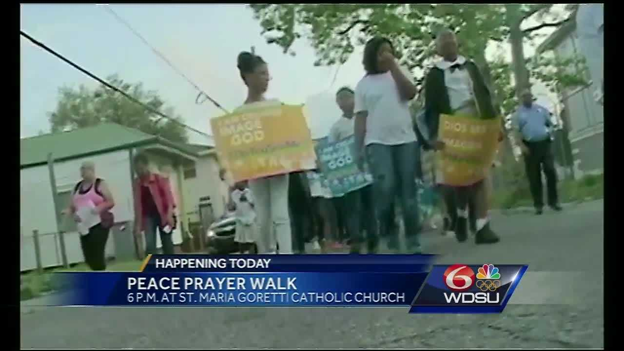 A community plans to promote prayer and peace Tuesday evening in neighborhoods throughout the city that are known for violence.