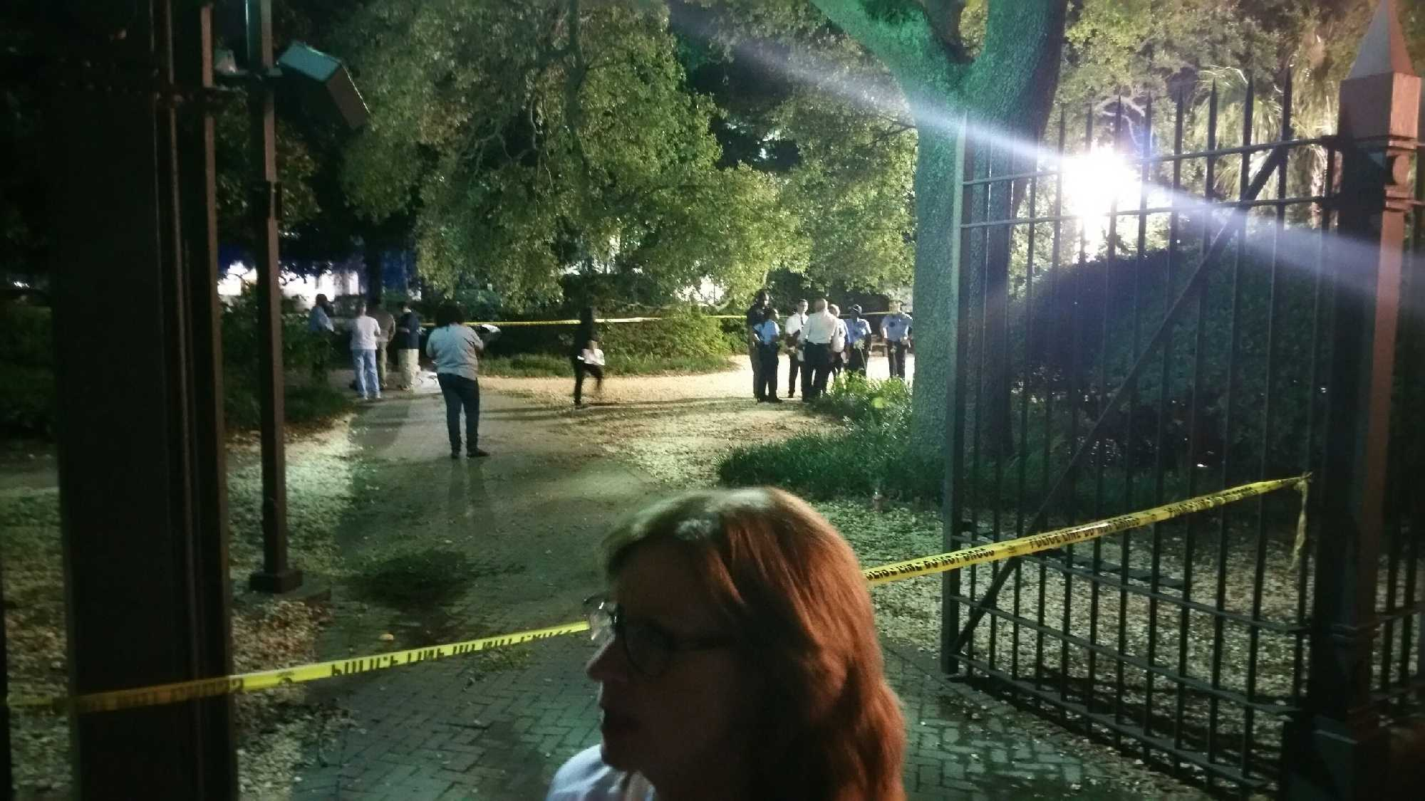 NOPD investigates a homicide at the entrance of Armstrong Park.