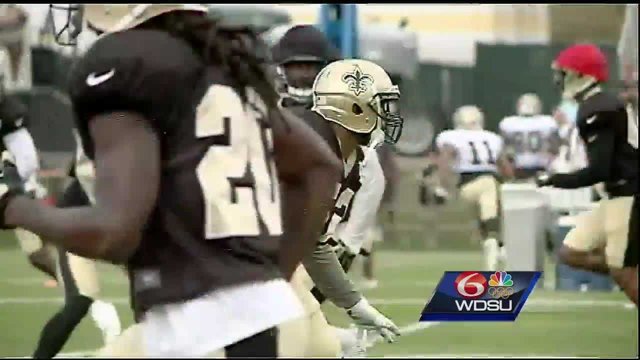 The New Orleans Saints returned to practice after their Thursday night loss to the New England Patriots.Saints head coach Sean Payton was very happy with his teams efforts at practice Saturday.Keenan Lewis didn't play against the Patriots and there's a chance he may not practice or play until the season starts, so Payton and the Saints brought in veteran cornerback Cortland Finnegan.His new teammates welcomed him by making him do 40 up-downs.Finnegan is a guy who's played in the NFL for 10 seasons most recently with the Carolina Panthers last season. He brings that toughness and experience Payton loves for his team.