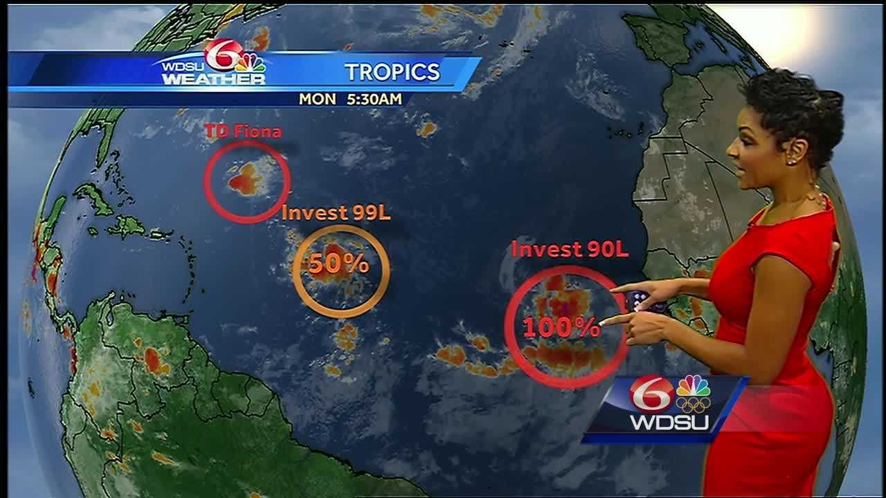 August heat continues. Expect less coverage with spotty showers and storms that develop through the start of the week. A Flood Advisory continues for areas west. Advisories may be forthcoming on the next tropical depression in the Atlantic basin.