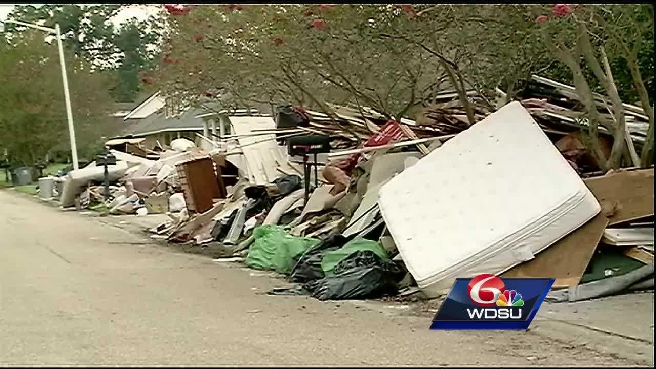 The Baton Rouge East Afton Oaks subdivision saw major flooding.