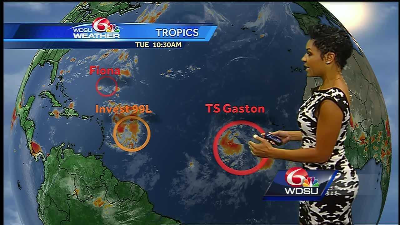 Fiona is a post-tropical cyclone, Tropical Storm Gaston is moving across the Atlantic Ocean and a tropical wave is headed toward the Caribbean. Watch the tropics update from WDSU meteorologist Kweilyn Murphy.