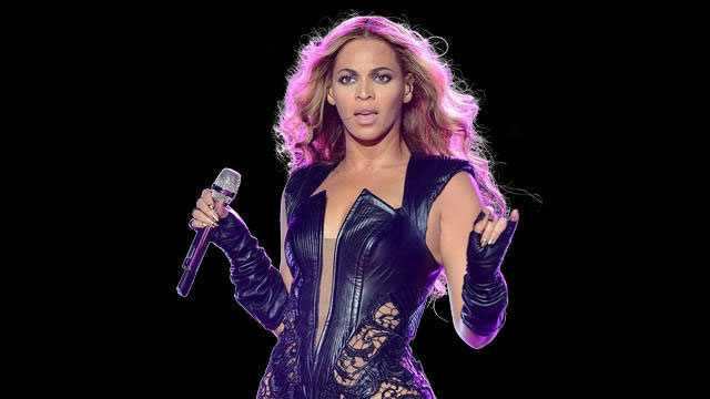 Beyonce performing during Super Bowl XLVII Halftime Show, New Orleans, Louisiana.