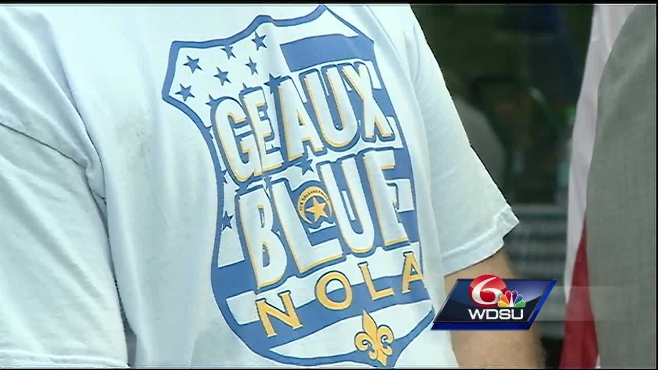 Organizers hope Geaux Blue NOLA Day will become an annual tradition to recognize, honor and support members of the New Orleans Police Department.